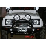 Gypsy front bumper with winch plate