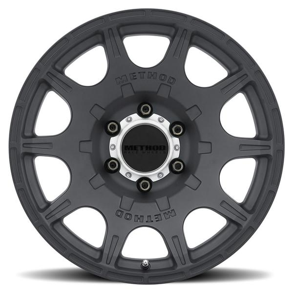 F - MR308 Roost, 17x8.5, 0mm Offset, PCD - 6/139.7, 106.25mm Centerbore, Matte Black