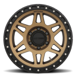 M - MR312, 18x9, +18mm Offset, PCD - 6/139.7, 106.25mm Centerbore, Method Bronze/Black Street Loc