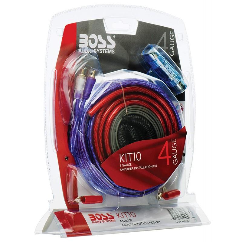 BOSS Audio KIT10 4 Gauge Amplifier Installation Wiring Kit on