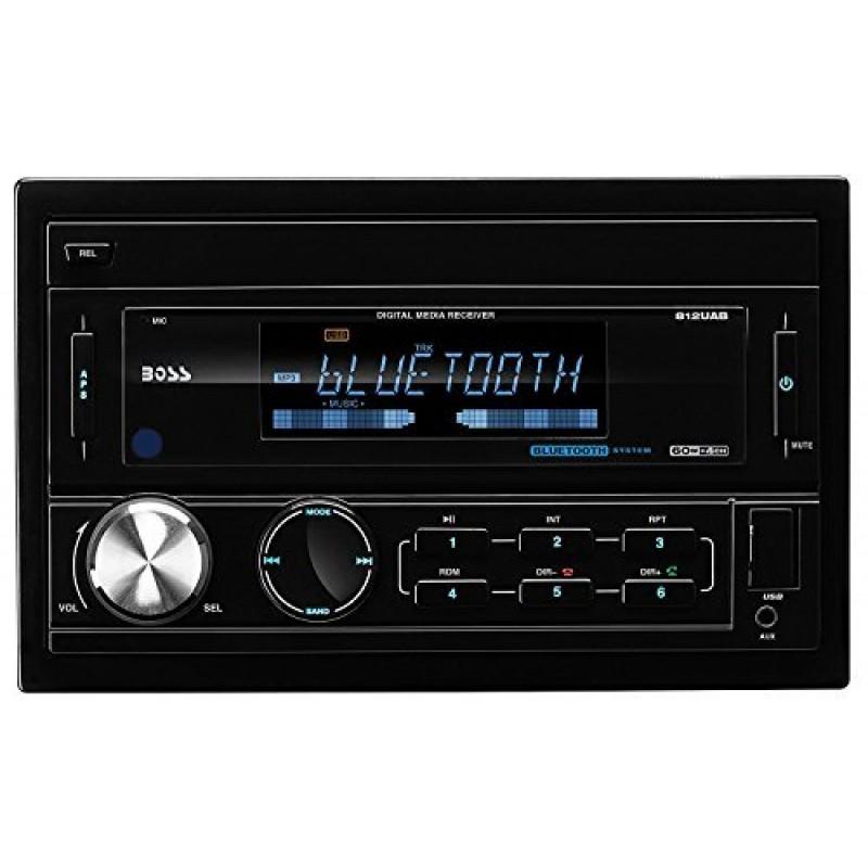 Boss Bv9538b Double Din Bluetooth Dvd Car Stereo Receiver: Bluetooth : BOSS AUDIO 812UAB Double-DIN MECH-LESS (No CD