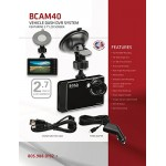 "Boss Audio BCAM40 Vehicle Dash DVR System Features 2.7"" (69 mm) LCD Screen"